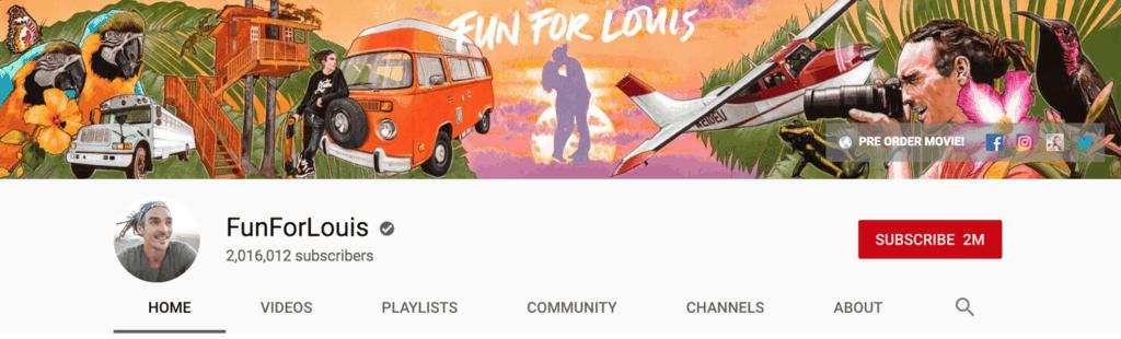 fun for louis youtube banner