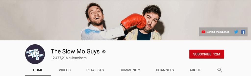 the slo mo guys youtube banner