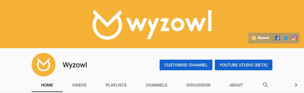 wyzowl youtube banner