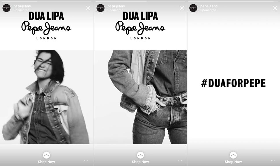 pepe jeans instagram ad